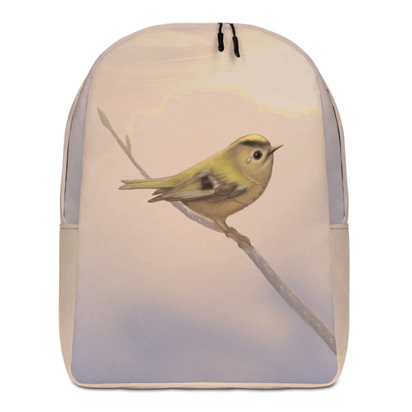 "Backpack ""A small tear relieves a great sorrow"" (Goldcrest)"