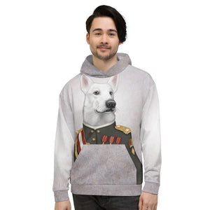 "Unisex hoodie ""A king's face should show grace"" (White Swiss Shepherd Dog)"