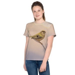 "Unisex youth T-shirt ""A small tear relieves a great sorrow"" (Goldcrest)"