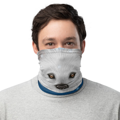 "Neck gaiter ""No snowflake ever falls in the wrong place"" (Samoyed)"