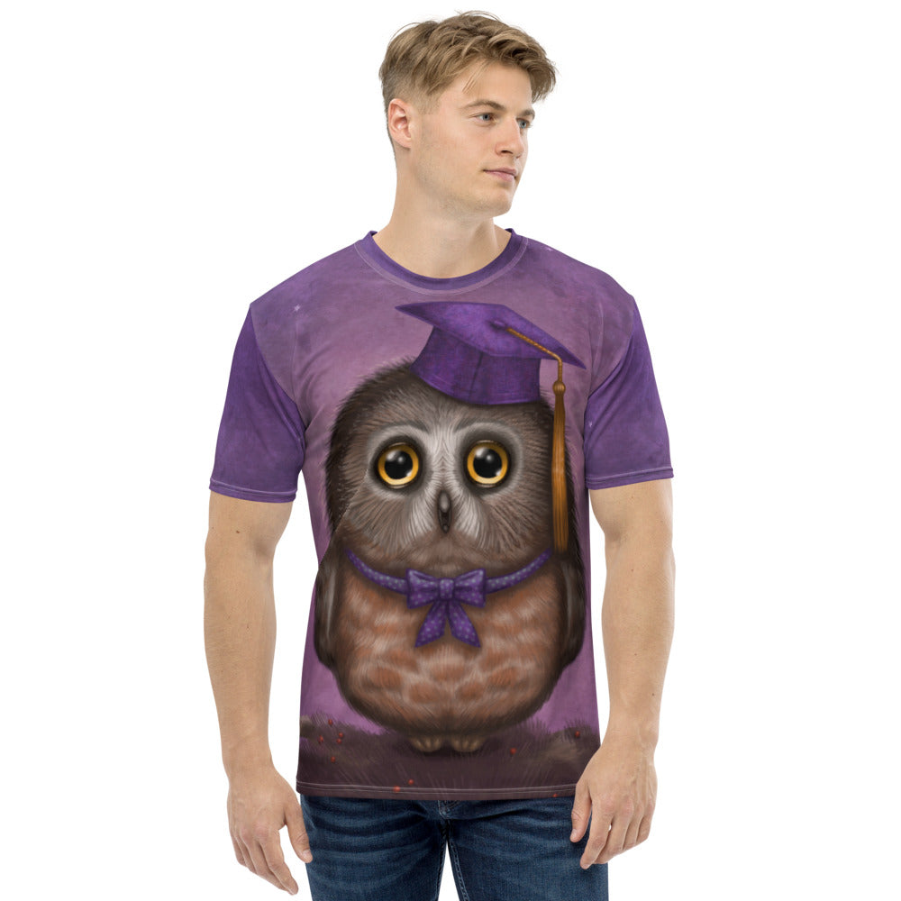 "Men's T-shirt ""Wonder is beginning of wisdom"" (Owl)"
