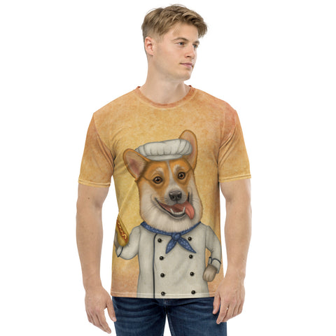 "Men's T-shirt ""An empty belly is the best cook"" (Pembroke Welsh Corgi)"