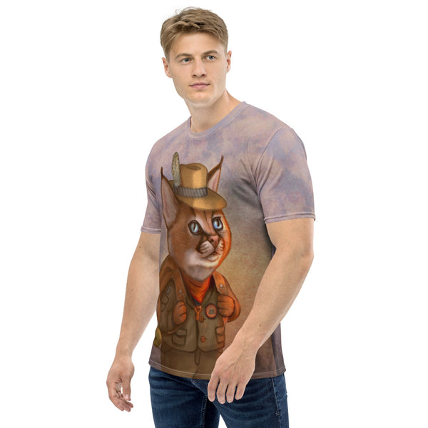 "Men's T-shirt ""The wise traveler leaves his heart at home"" (Caracal)"