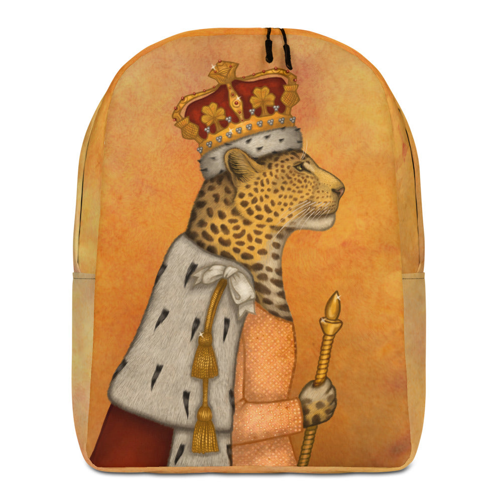 "Backpack ""In every woman there is a queen"" (Leopard)"