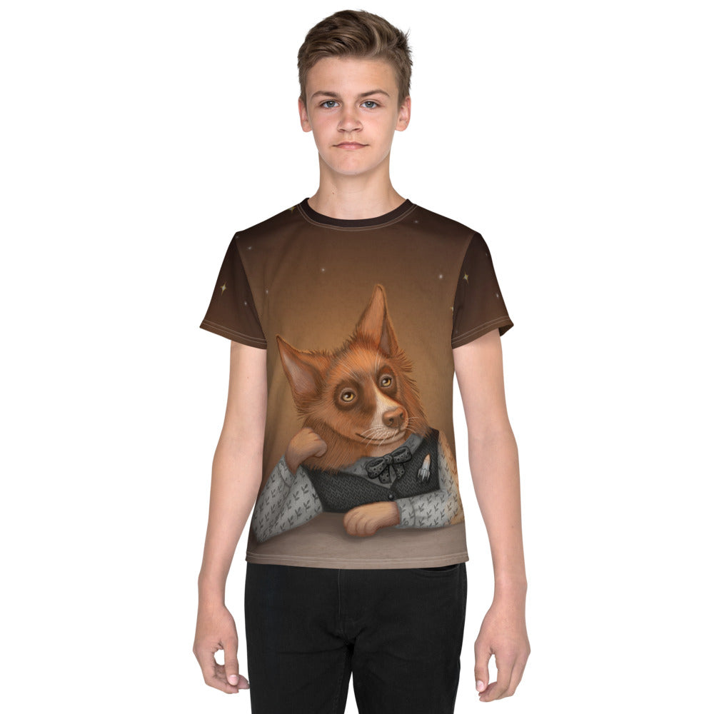 "Unisex youth T-shirt ""He who understands music understands the cosmos"" (Border Collie)"