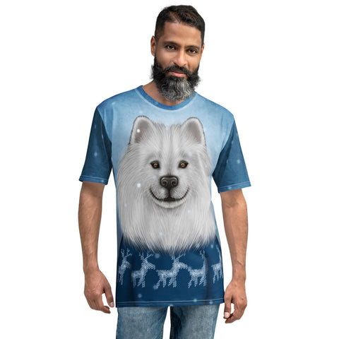 "Men's T-shirt ""No snowflake ever falls in the wrong place"" (Samoyed)"