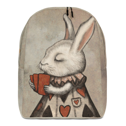 "Backpack ""Lucky at cards, unlucky in love"" (Hare)"
