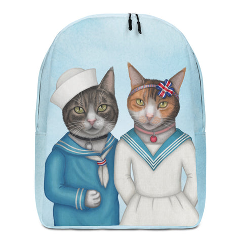 "Backpack ""Brothers and sisters are as close as hands and feet"" (Cats)"