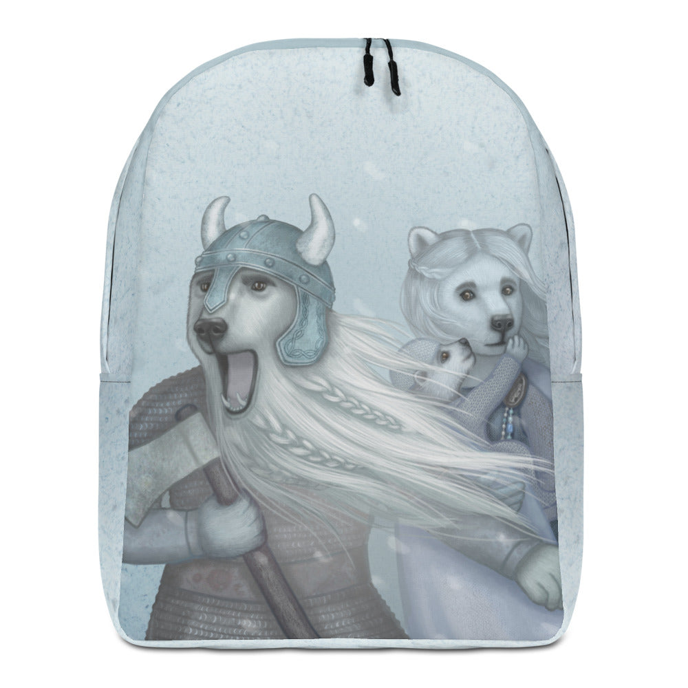 "Backpack ""It is the great North wind that made the Vikings"" (Polar bears)"