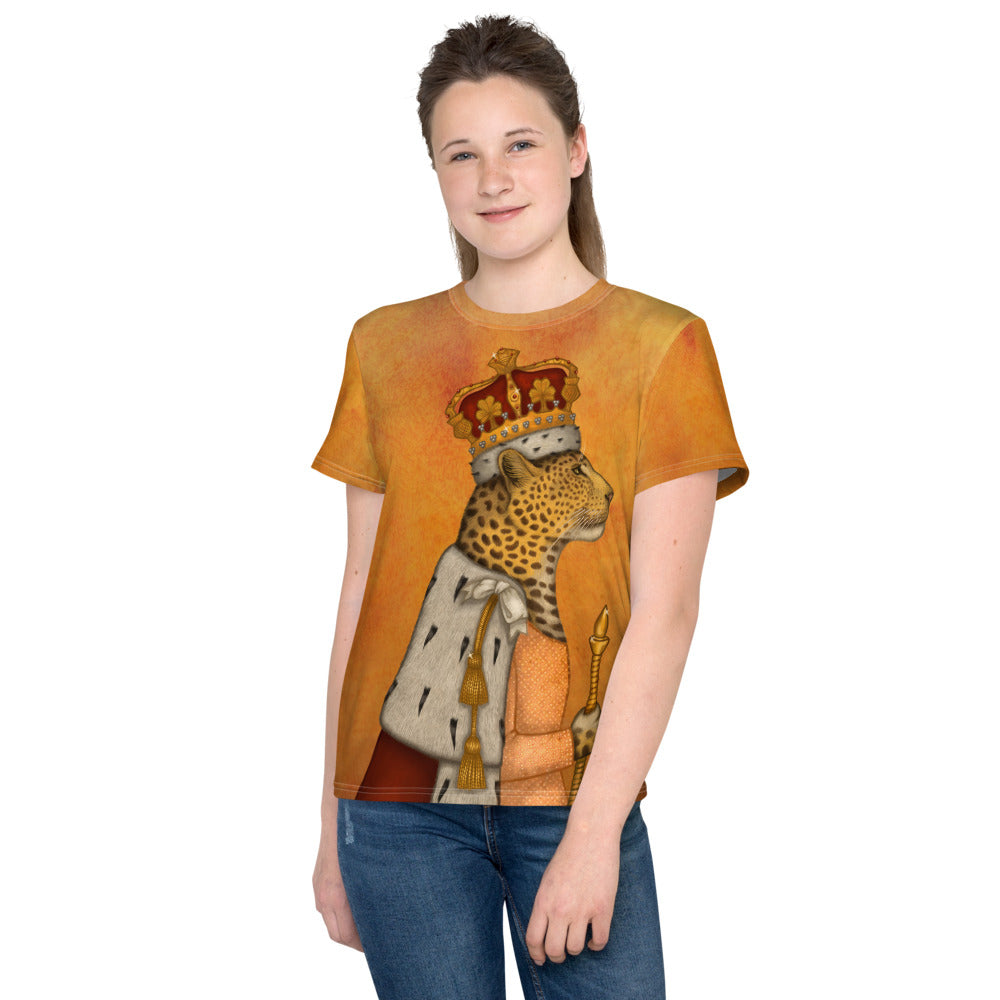 "Unisex youth T-shirt ""In every woman there is a queen"" (Leopard)"