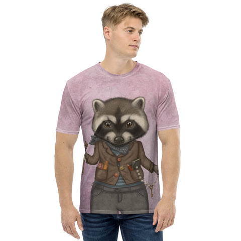 "Men's T-shirt ""Finders keepers"" (Raccoon)"