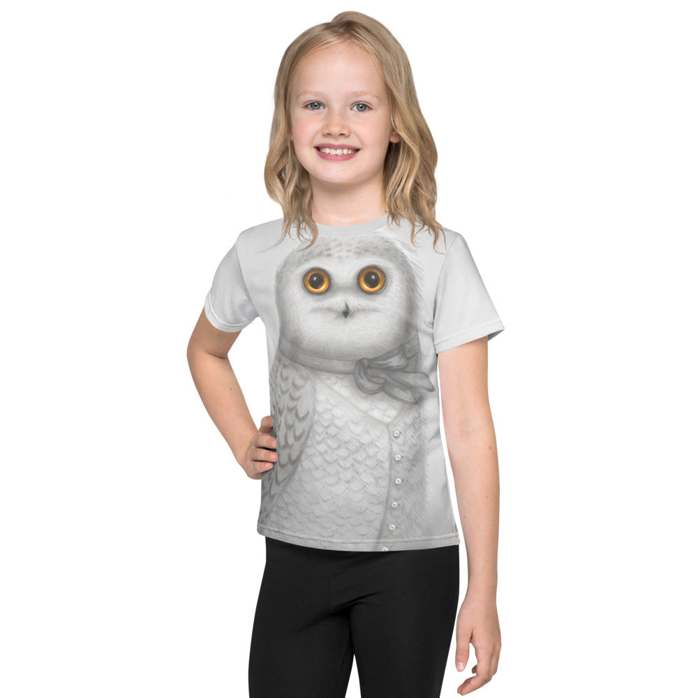 "Unisex kids T-Shirt ""The North wind does blow and we shall have snow"" (Snowy owl)"