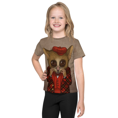 "Unisex kids T-shirt ""Fear has big eyes"" (Mouse lemur)"