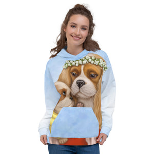 "Unisex hoodie ""Time brings everything to those who can wait for it"" ( Cavalier King Charles Spaniels)"
