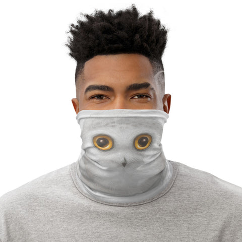 "Neck gaiter ""The North wind does blow and we shall have snow"" (Snowy owl)"