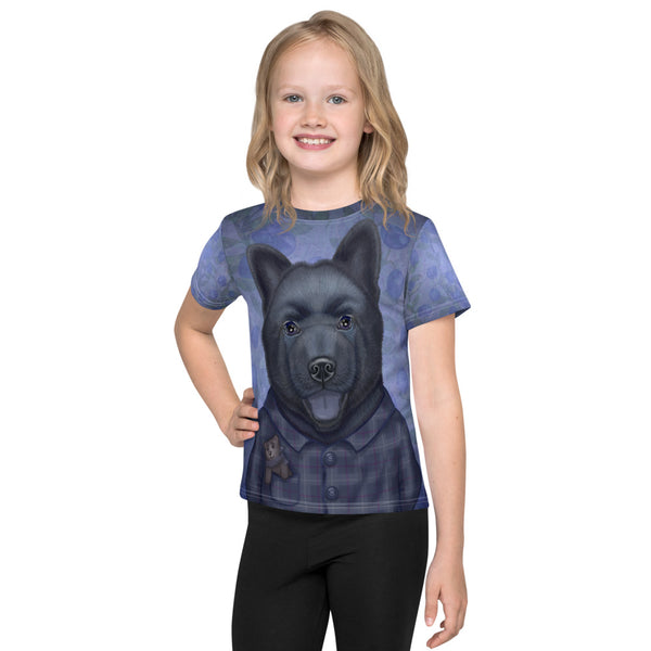 "Unisex kids T-shirt ""Darkness does not bite, it just sniffs a bit"" (Chow-Chow)"