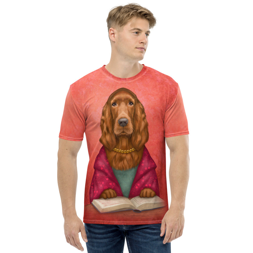 "Men's T-shirt ""Reading books removes sorrow from the heart"" (Irish Setter)"
