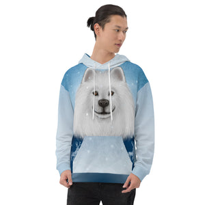 "Unisex hoodie ""No snowflake ever falls in the wrong place"" (Samoyed)"