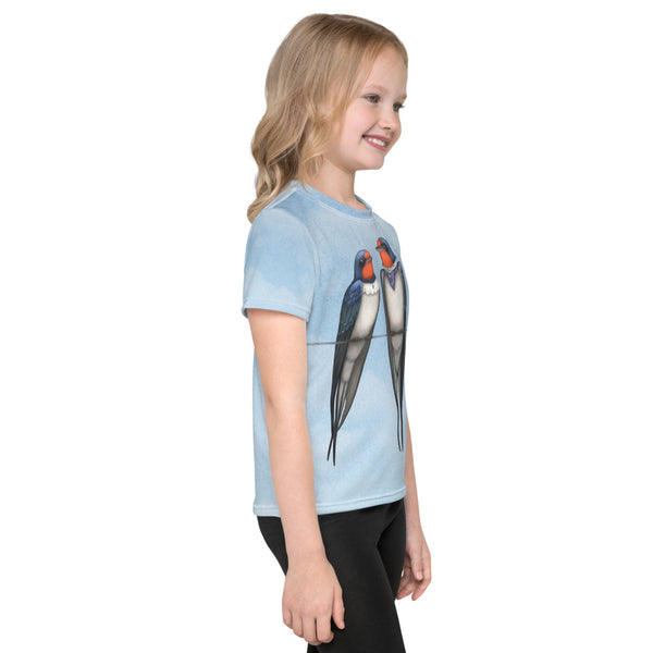 "Unisex kids T-shirt ""Everybody loves his homeland"" (Swallows)"