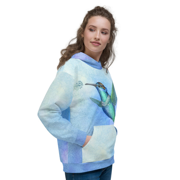 "Unisex hoodie ""Small is beautiful"" (Hummingbird)"