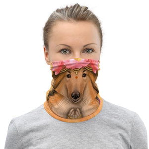 "Neck gaiter ""He who understands music understands the cosmos"" (Border Collie)"