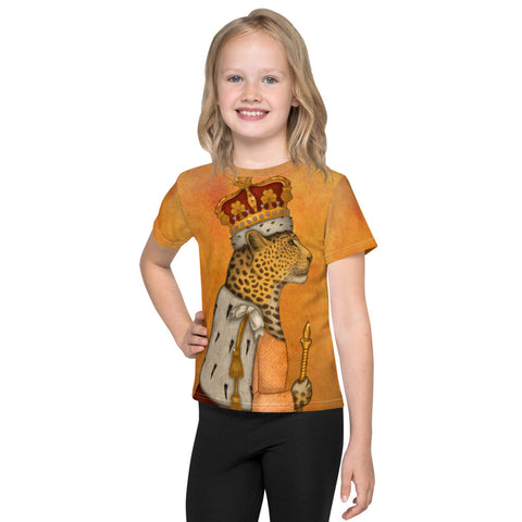 "Unisex kids T-shirt ""In every woman there is a queen"" (Leopard)"