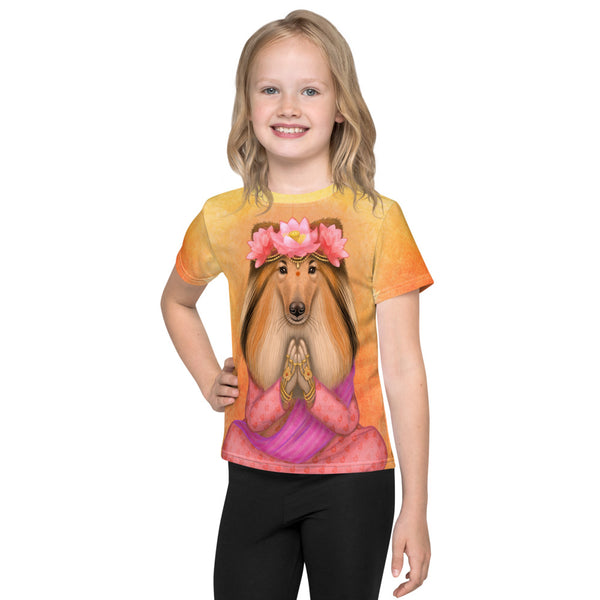 "Unisex kids T-shirt ""What we think, we become"" (Rough Collie)"
