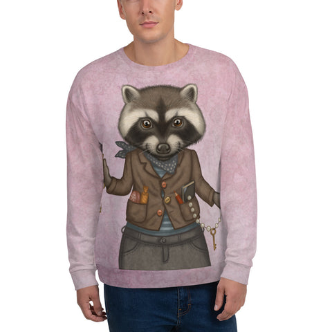 "Unisex sweatshirt ""Finders keepers"" (Raccoon)"