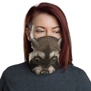 "Neck gaiter ""Finders keepers"" (Racoon)"
