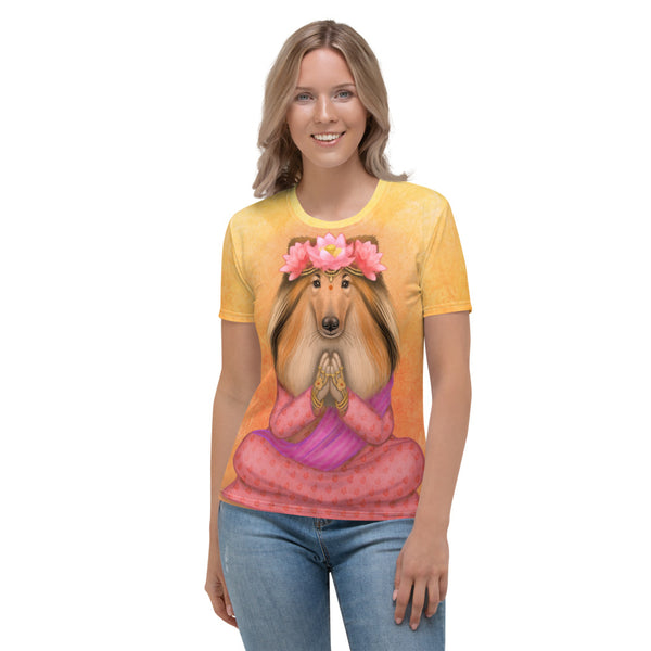 "Women's T-shirt ""What we think, we become"" (Rough Collie)"
