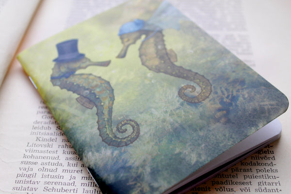 "Notebook ""Sea has hundred hearts"" (Seahorses)"