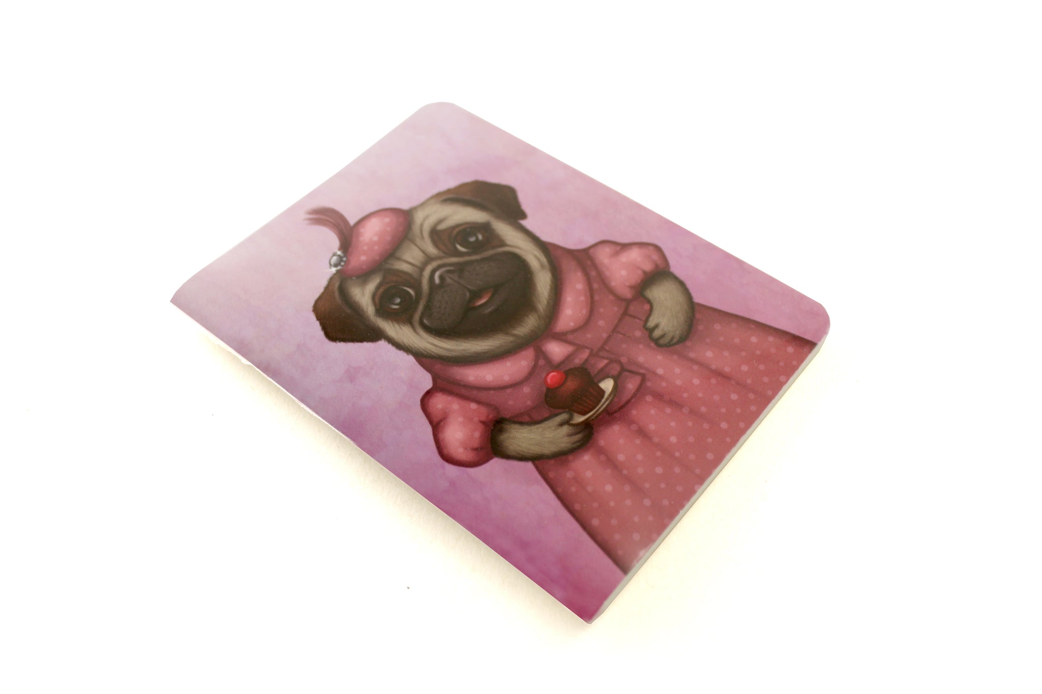 "Notebook ""A full stomach makes a happy heart"" (Pug)"