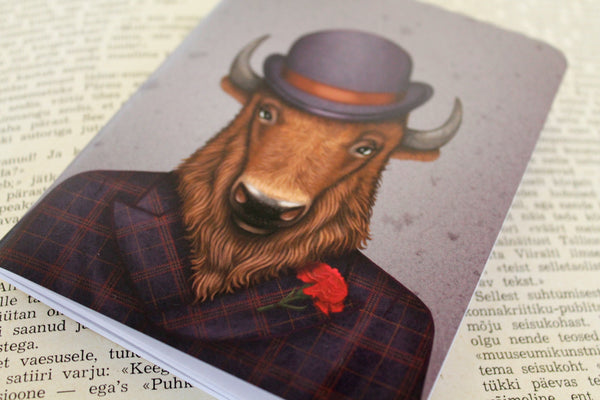 "Notebook ""Beard is the man's honor"" (Bison)"