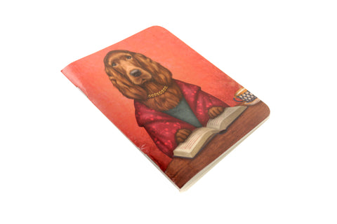 "Notebook ""Reading books removes sorrow from the heart"" (Irish Setter)"