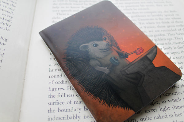 "Notebook ""Everyone is the blacksmith of his own fortune"" (Hedgehog)"