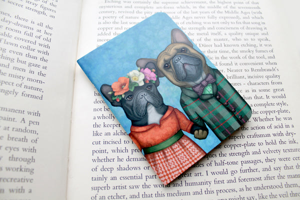 "Notebook ""A life without love is like a year without summer"" (French bulldogs)"