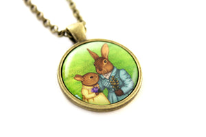 "Pendant ""It is never winter in the land of hope"" (Hares)"