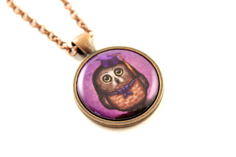 "Pendant ""Wonder is beginning of wisdom"" (Owl)"