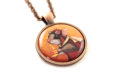 "Pendant ""Who is timid in the woods boasts at home"" (Flying squirrel)"