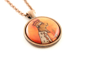 "Pendant ""In every woman there is a queen"""