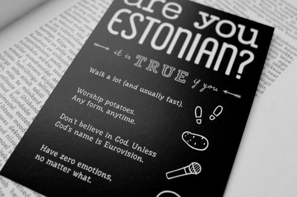 "Postcard ""Are you Estonian?"""