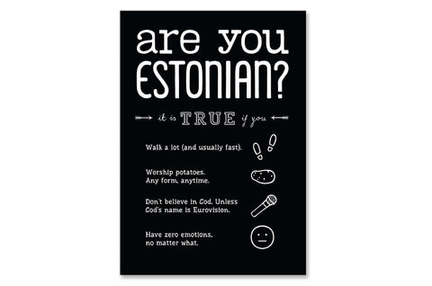"Postkaart ""Are you Estonian?"""