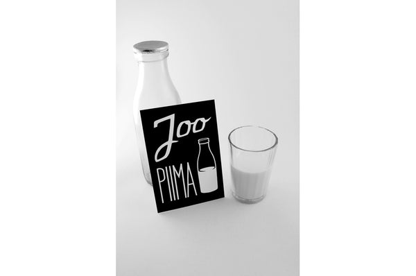 "Postcard ""Drink milk"""