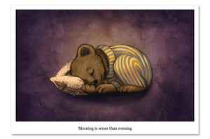 "Postcard ""Morning is wiser than evening"""