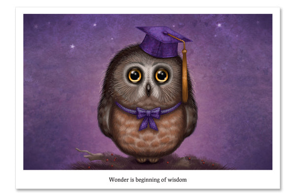 "Postcard ""Wonder is beginning of wisdom"""
