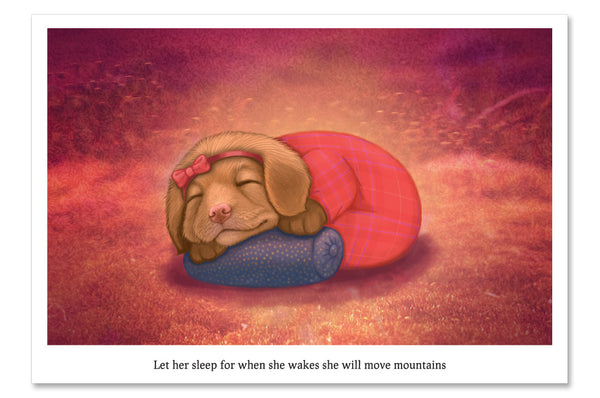 "Postcard ""Let her sleep for when she wakes she will move mountains"""