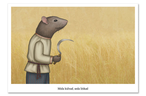 "Postcard ""You reap what you sow"" (Rat)"