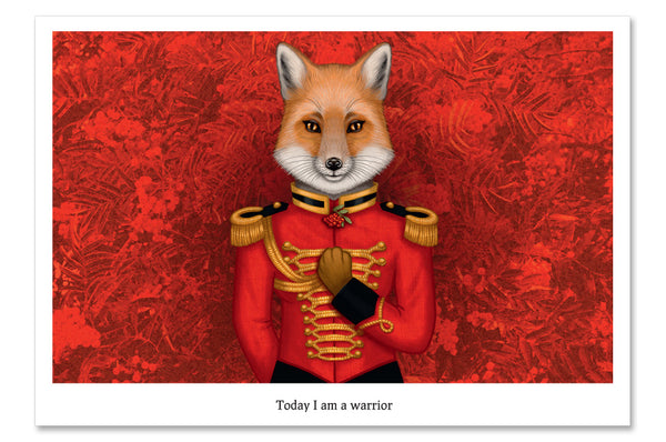 "Postcard ""Today I am a warrior"""