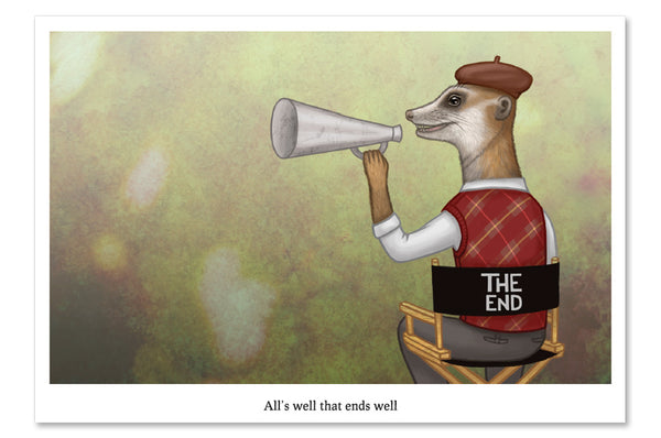 "Postcard ""All's well that ends well"" (Meerkat)"