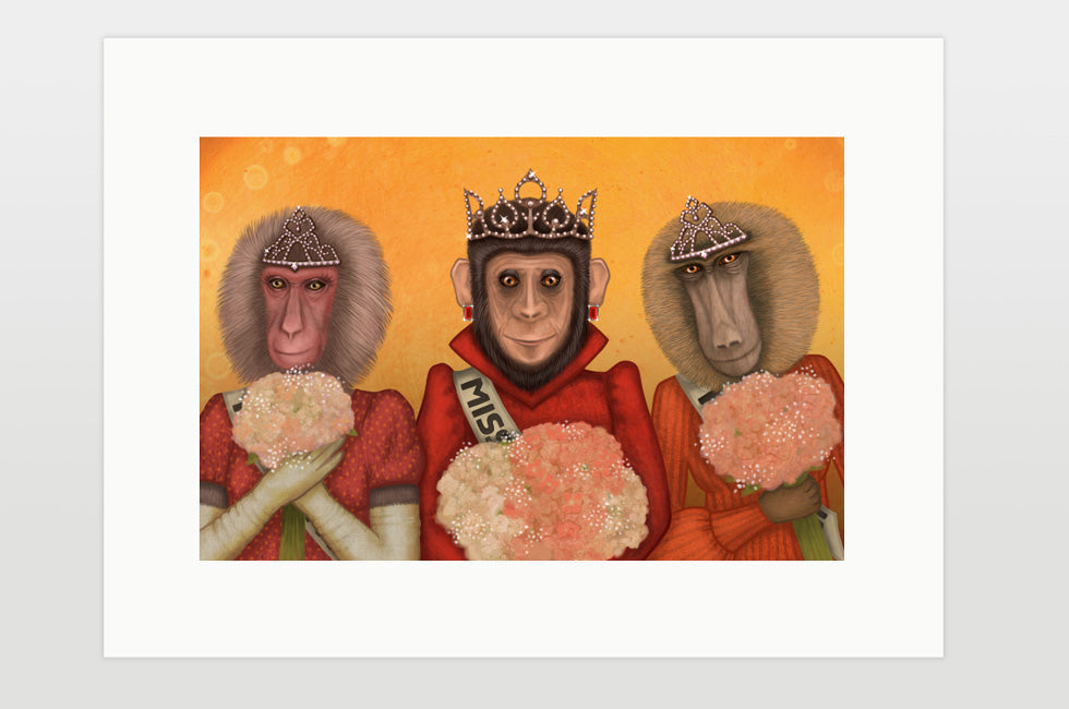 "Print ""There is always a winner, even in a monkey's beauty contest"" (Monkeys)"